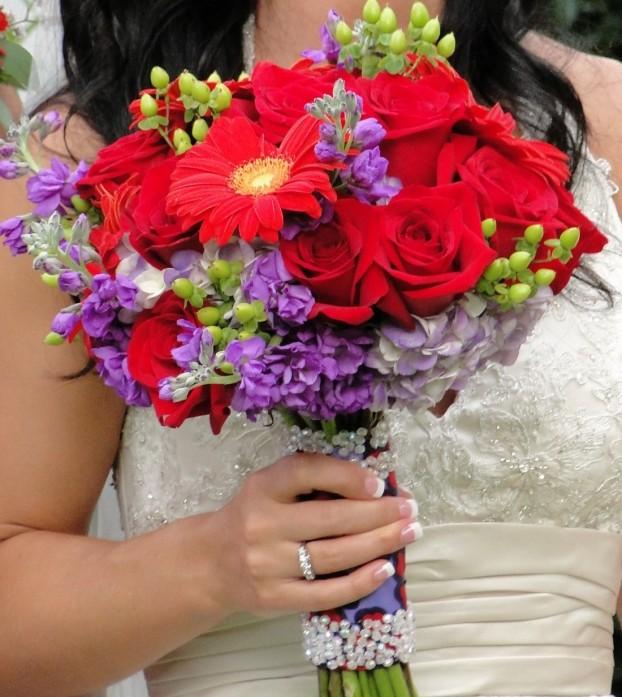 Wedding Flowers By On- Purple-19