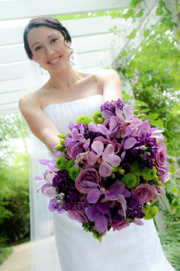 Wedding Flowers By On- Purple-25